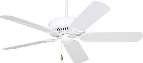 Emerson Cf755Ww Designer Indoor Ceiling Fan, 52-Inch Blade Span, Appliance White Finish And Appliance White/Bleached Oak Blades