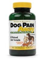 Dog Pain Away, Treats Arthritis, Inflammation, Joint Pain, & Decreased Flexibility - 90 Dog Chewable Tablets