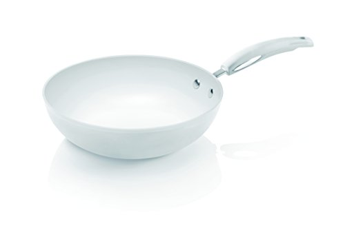 Bialetti, Padella wok, adatta all'induzione, Bianco (Weiß), 28 cm