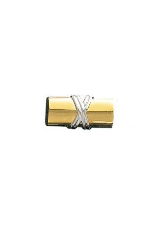 14K Gold Two Tone Cylinder Tie Tac-89917