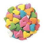 Edible Confetti Sprinkles Pastel Hearts Shaped 5oz Container