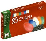 Holiday Wonderland 2924-88 Christmas Lights Set Multi-Color Ceramic 25-Count C9