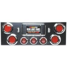 Roadpro Rear Light Panel With (4) 4 & (3) 2.5 Led Lights And Chrome Abs Plastic Visors