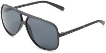 D&G Dolce & Gabbana 0Dg6081 26518160 Polarized Square Sunglasses,Grey,61 Mm
