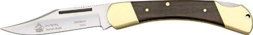 Puma 6169610W SGB Whitetail Folding Knife with Jacaranda Wood Plain Brown