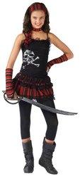 Morris Costumes Halloween Pirate Skull Rocker Child 4-6