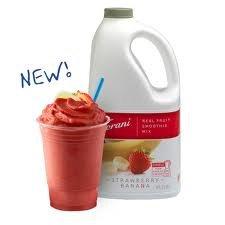 Torani Strawberry Banana Real Fruit Smoothie (1 Single 64 Ounce Bottle-Half Gallon-1.89-Liter Bottle) front-412221