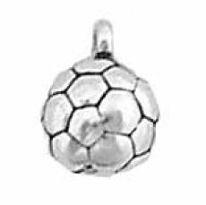 """Sterling Silver 18"""" 1.0Mm Wide Box Chain Lightweight Boys Necklace With 3D Soccer Ball Solid Sports Pendant"""