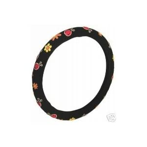 Ladybug Ladybugs Steering Wheel Cover Black New