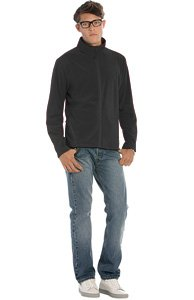 B&C Collection Mens Coolstar Sweatshirt - Black, X-Large