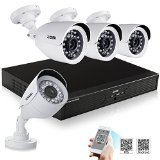 ZOSI 4CH Full D1 960H HD DVR 4PCS 800TVL HD