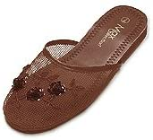 Mesh Chinese Slippers Brown