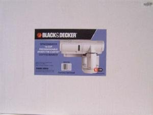 Black & Decker SDC750 Spacemaker 12-Cup Programmable Under-the-Cabinet Coffeemaker, White