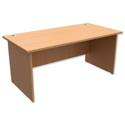 Trexus Classic Desk Panelled Rectangular W1600xD800xH725mm - 417802