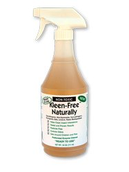 Kleen Free Naturally, 24oz pre-mix, bed bugs, scabies, lice, mites, any insect eliminator and treatment, all natural enzymes, non-toxic, organic, USDA ecologically safe - (24 oz. Pre-Mix with ready to use Sprayer)