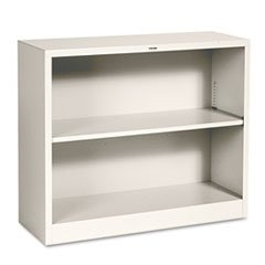 ** Metal Bookcase, 2 Shelves, 34-1/2w x 12-5/8d x 29h, Putty **