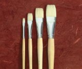 School Smart Long Handled White Bristle Brush - 3/4 inch - 1