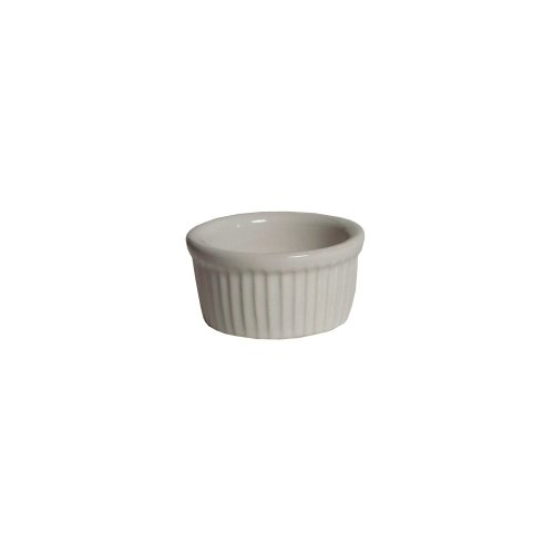Tuxton Bwx-0352 3-1/2 Oz. White Fluted Ramekin - 48 / Cs