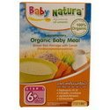 3x Baby Natura Organic Baby Meal Brown Rice Porridge Carrot 120g From Thailand