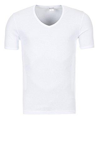 Yazubi 3er, 2er oder 1er Pack Slim Fit Basic Herren T-Shirt mit V-Ausschnitt, 1er Pack weiß (1002), M