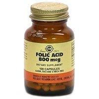 Solgar - Folic Acid 800 Mcg. - 100 Vegetarian Capsules
