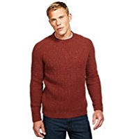 Blue Harbour Heritage Lambswool Blend Chunky Knit Flecked Jumper