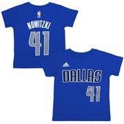 Toddler Dallas Mavericks Dirk Nowitzki Adidas Navy Blue Name And Number T-Shirt