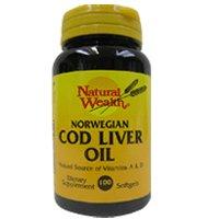Natural Wealth Omega-3 Norwegian Cod Liver Oil, 100 Softgels