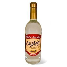 Da Vinci White Chocolate Syrup, 750 ml Bottle