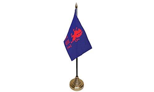 confezione-da-12-royal-welch-fusiliers-tavolo-centrotavola-bandiera-bandiere-con-oro-base-ideale-per