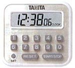 TANITA 時計付長時間タイマー ホワイト TD-375-WH