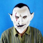 Halloween Costume Make-up Fancy Props Resin Earl of Hell Horror Mask (White) from TRJAQB