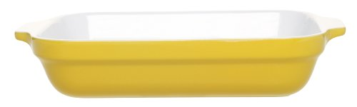 Emile Henry 12-by-8-1/2-Inch Lasagna Baker, Citron Yellow