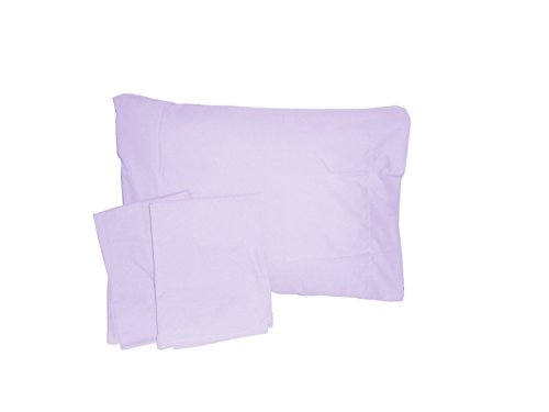 Baby Doll Solid Crib/ Toddler Bed Sheet Set, Lavender - 1