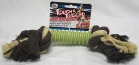 Four Paws Rough & Rugged Rope with Green Ring Dog Toy