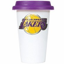 Nba Los Angeles Lakers 12-Ounce Double Wall Tumbler With Silicone Lid, Purple