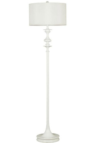 Kenroy Home Claiborne White Gloss Floor Lamp