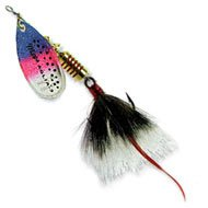 Mepps Aglia Dressed Treble Fishing Lure, 1/4-Ounce, Rainbow Trout/Grey Tail