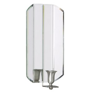 Mirrored Wall Sconces Candle Holder : Mirrored Glass Wall Sconce Candle Holder: Amazon.co.uk: Kitchen & Home