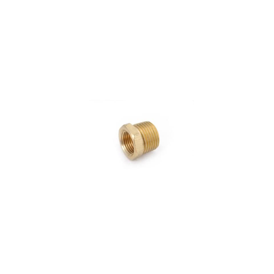 Anderson Metals Corp 1/2X1/4 Brs Hex Bushing (Pack Of 5 Brass Pipe Coupling Reducers & Bushings
