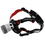 Rechargeable Zoom Cree Q5 Led Head Torch Light Headlamp(White)