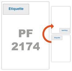Etiquette intégrée - 1000 feuilles étiquette intégrée 115x46mm pour BL, facture ...