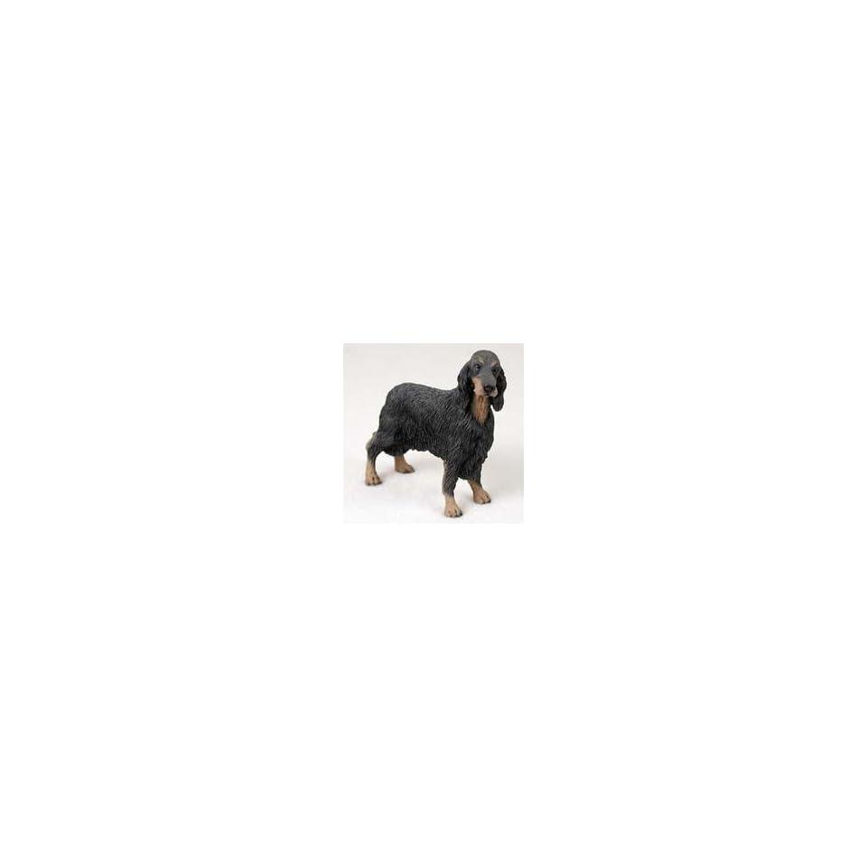 Gordon Setter Dog Figurine