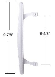 CRL Patio Door Handle Inside Pull, White, 6-5/8″ Screw Holes
