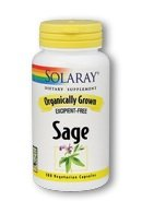 Solaray Organically Grown Sage Supplement,570 mg, 100 Count