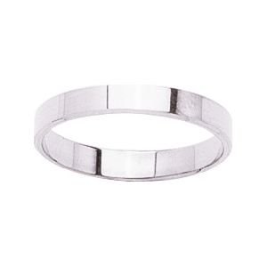 So Chic Jewels - 9k White Gold 3 mm Flat Classic Wedding Band Ring