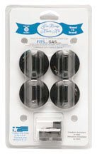 Range Kleen 8214 4 Piece Black Gas Range Replacement Knobs (Gas Stove Hood compare prices)