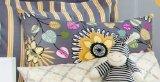 Sweet Potato Melrose Small Sham Bedding Set, Marigold/Gray/Magenta/Chartreuse