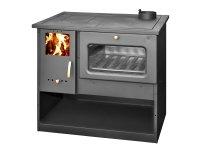 Cocina de leña y estufa con calor de 12kw