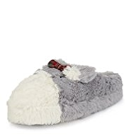 M&S Collection Scotty Dog Mule Slippers
